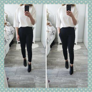French Connection Black Cropped Trousers